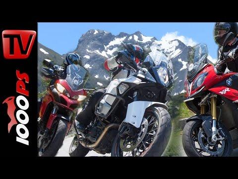Reise Enduro Vergleich Alpen | BMW S 1000 XR, KTM Super Adventure, Ducati Multistrada