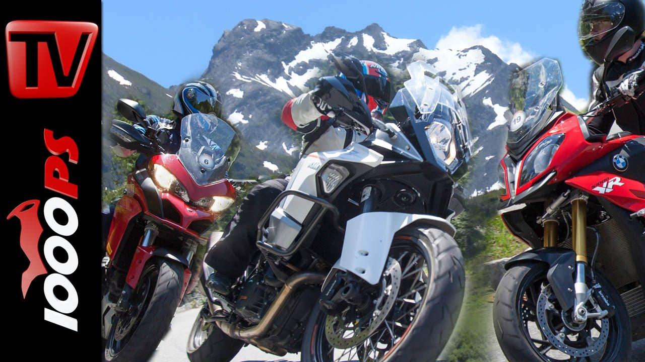 Reise Enduro Vergleich Alpen Bmw S 1000 Xr Ktm Super