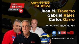 """Entrevista a Juan María Traverso, Gabriel Raies y Carlos """"Pájaro"""" Garro - Motor Show Río Cuarto 2020"""