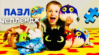 ПАЗЛ-ЧЕЛЛЕНДЖ  Драконы How to Train Your Dragon 3 CHALLENGE giveaway DRAGONCOLLECTION