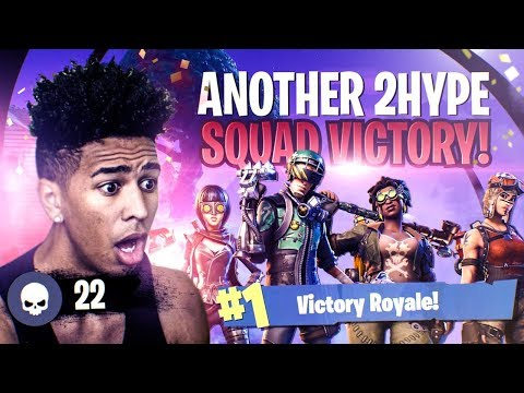 ANOTHER 2HYPE *CRAZY* SQUAD VICTORY ON FORTNITE! Fortnite Battle Royale