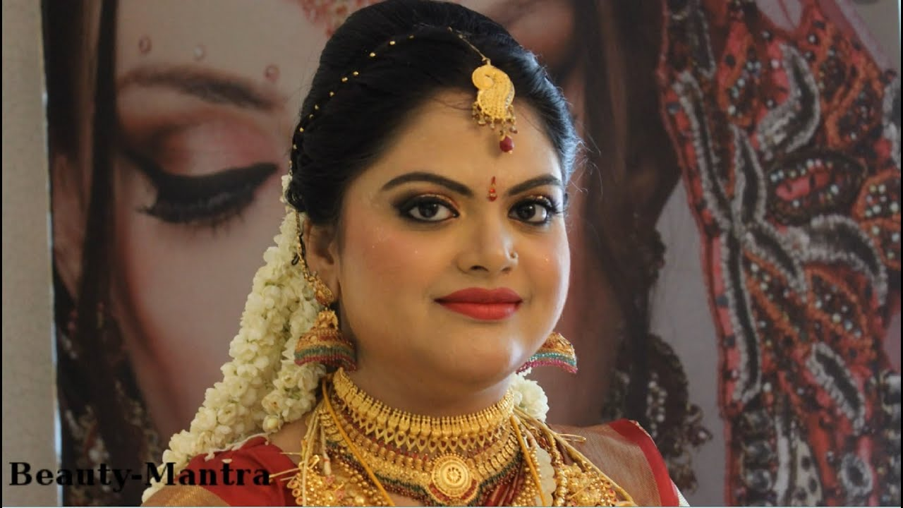 kerala hindu bridal makeup - youtube