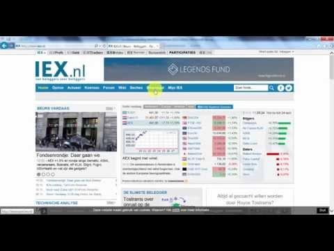 Aanmelden voor IEX beursspel