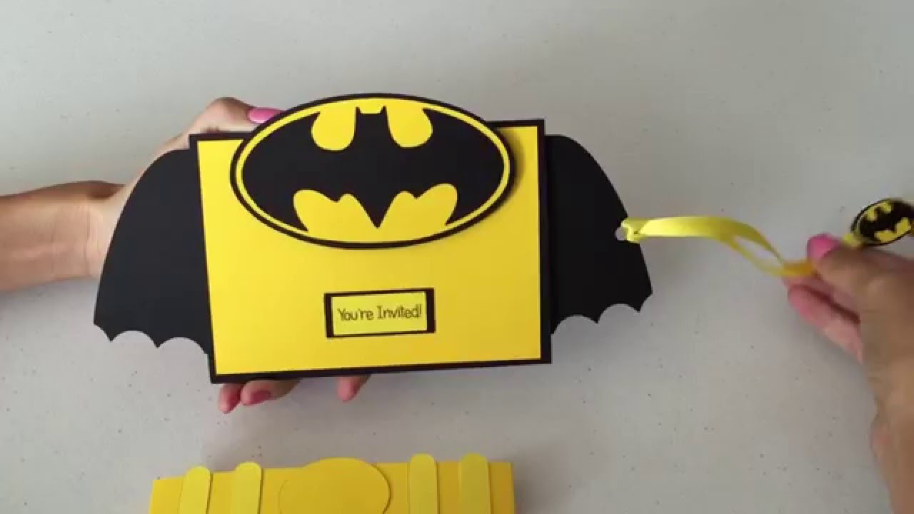 Interactive Batman 3D Invitation