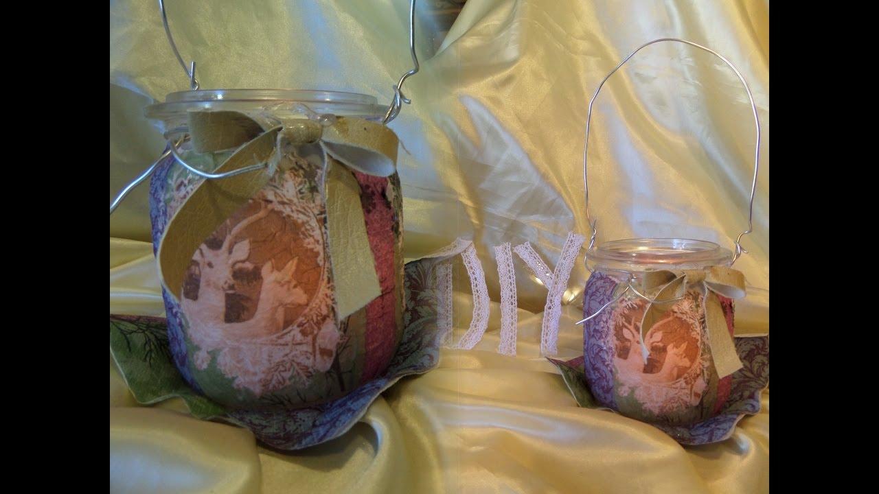 Diy tolles windlicht aus einmachglas selber machen how - Kabeltrommel deko ...