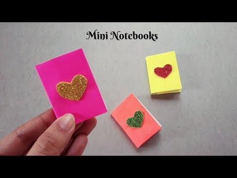 DIY MINI NOTEBOOKS USING ONE SHEET OF PAPER | DIY BACK TO SCHOOL
