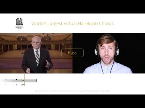 Bass Part for #Hallelujah Virtual Choir - Mormon Tabernacle Choir
