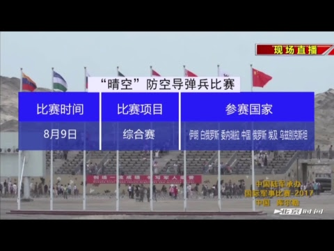 """Clear Sky"" competition on man-portable air-defense system, in Xinjiang, China"