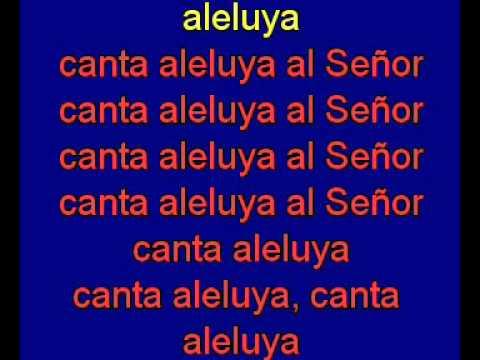 canta aleluya al Senor