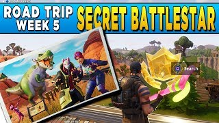 Fortnite Road Trip Challenge #5 - Secret Loading Screen Battlestar Location