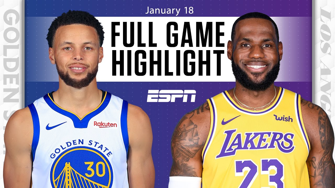 Golden State Warriors Vs Los Angeles Lakers Full Game Highlights Nba On Espn Youtube