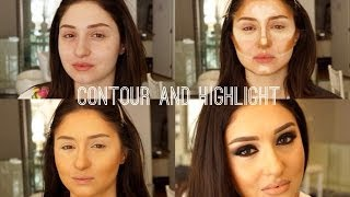 Black and Brown Smoky eyes and Contour Highlight Thumbnail