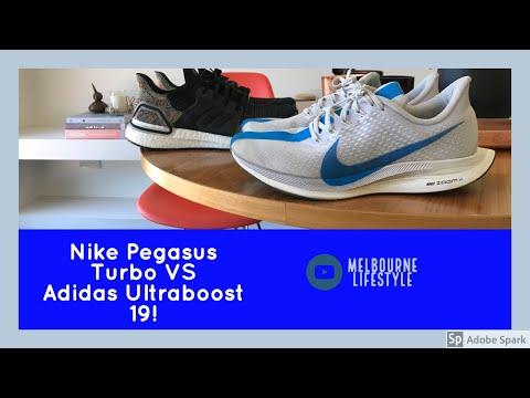 Negociar Repetido Lidiar con  Adidas Ultraboost 19 VS Nike Pegasus Turbo! - YouTube
