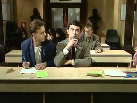 Mr.Bean at Examination Hall Great Funny Video - funnyblips