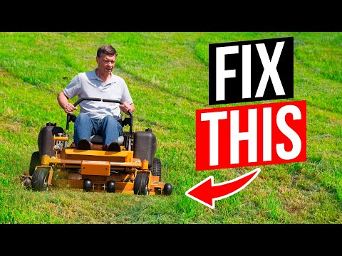 How to Fix a Mower that's Not Cutting Level