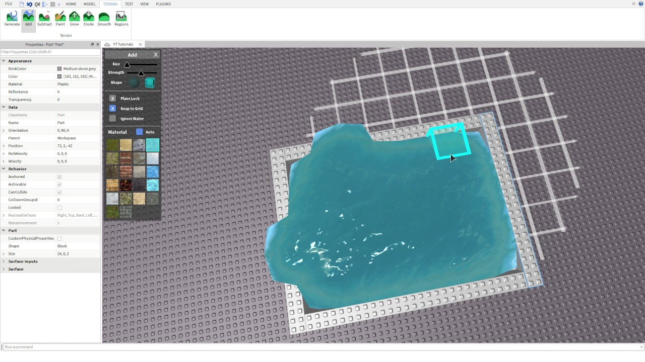 How To Make Water On Roblox Studio Using No Scripts Youtube