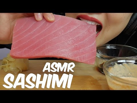 ASMR TUNA SASHIMI (SAVAGE  EXTREME EATING SOUNDS) Whole Big Slice No Talking | SAS-ASMR