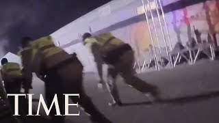 Police Body Camera Footage Shows Las Vegas Shooting Chaos: 'They're Shooting Right At Us' | TIME
