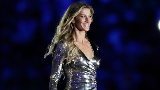 Gisele Bundchen Stuns in Thigh-High Slit During 2016 Rio Olympics Opening Ceremony