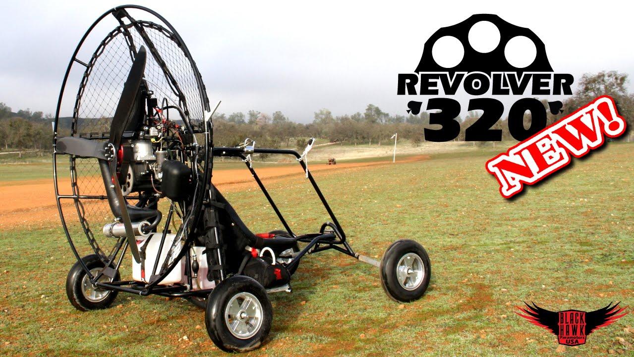 BlackHawk REVOLVER 320 Paramotor Review & Demo! NEW 2015 44hp Powered  Paraglider!