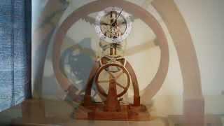 Large Balance Wheel Wood Clock