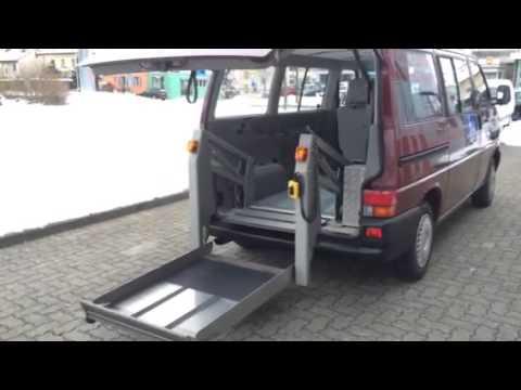 vw t4 behindertengerechter lift f r rollstuhl auto bordin. Black Bedroom Furniture Sets. Home Design Ideas