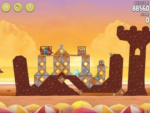 Angry Birds Rio Golden Beachball Level #28 Walkthrough
