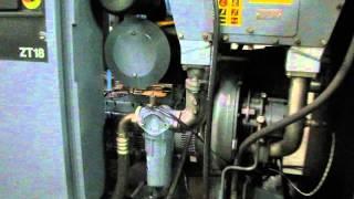 atlas copco 25hp oil free screw air compressor zt 18 rotary