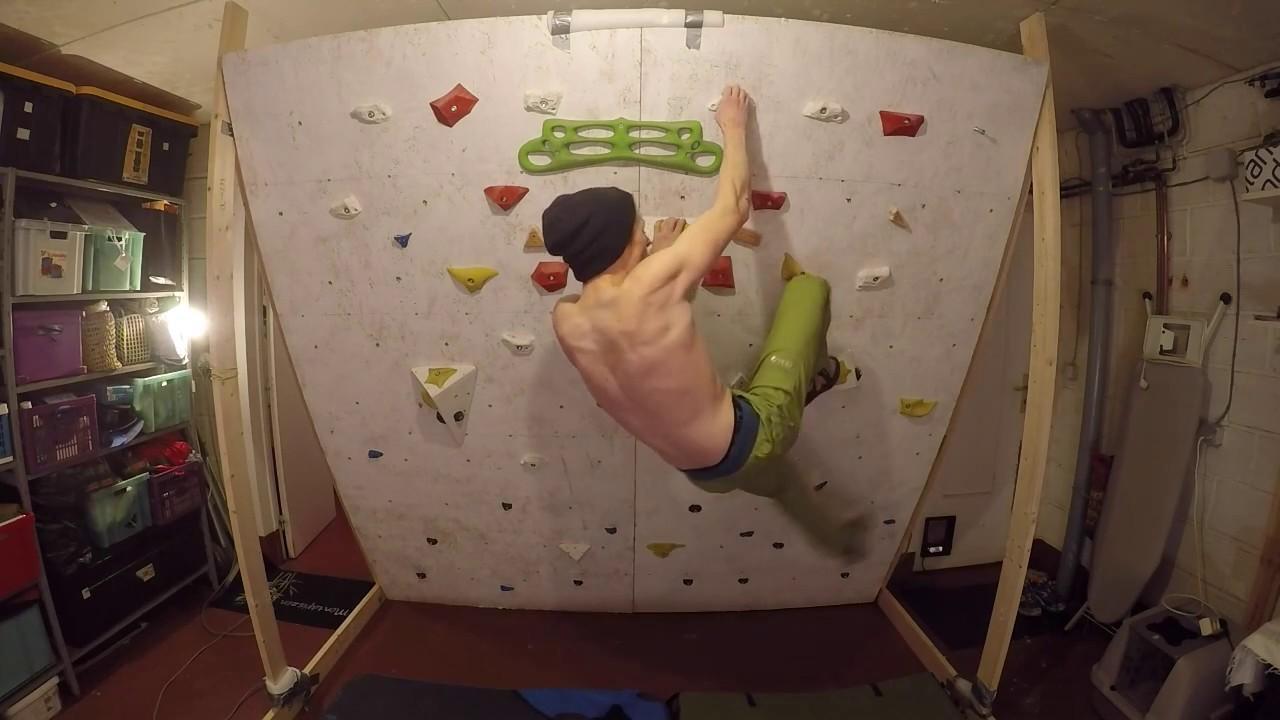Homemade climbing wall fun training session youtube