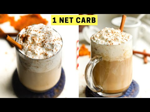 Keto Pumpkin Spice Latte Recipe That's BETTER Than Starbucks and just 1 NET CARB
