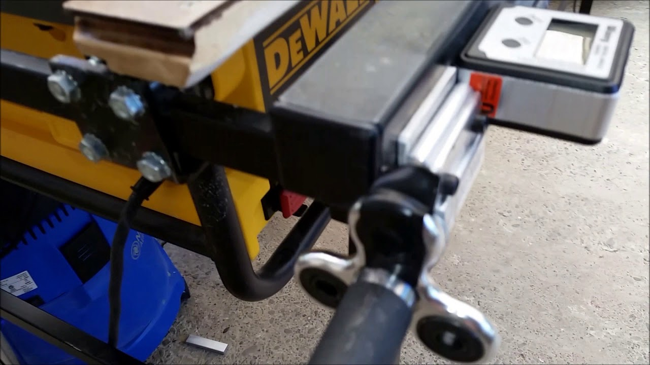 Rousseau 2780 Stand With Dewalt Dw745 And Diy Incremental Fence