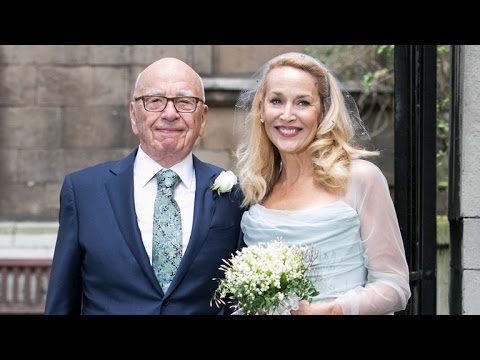 Rupert Murdoch and Jerry Hall Marry -- See The Pics!