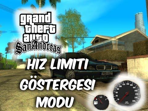 GTA SAN ANDREAS ( Hız Ölçer Ve Benzin Mod).