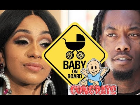 Cardi B Announces Pregnancy EXPOSING Baby Bump, Offset Confirms CONGRATS! Offset's 3rd Baby Mother