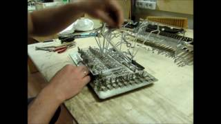Замена клапанов баяна Рубин ( 2ч - разбираем механику ).