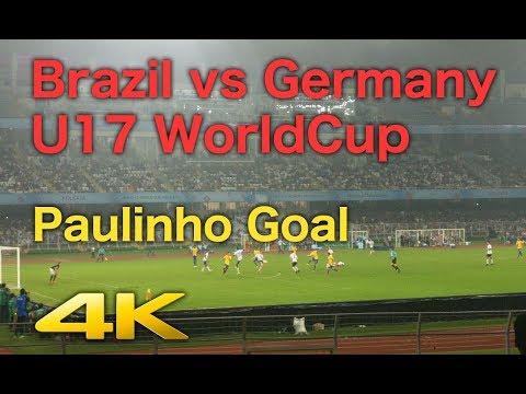 Brazil vs Germany U17 World Cup 2017 - Paulinho Goal - Live from Stadium [4K]
