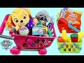 Paw Patrol Pup Baby Skye Goes Shopping For Groceries