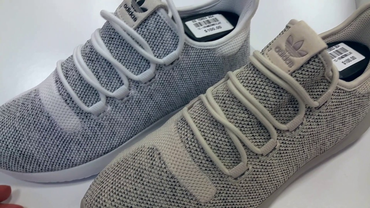 adidas Originals Tubular Shadow Knit Trainer Shadow Grey / White
