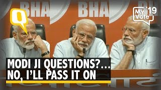 'I'll Pass It On': PM Modi Says No to Questions in First Ever Press Conference | The Quint