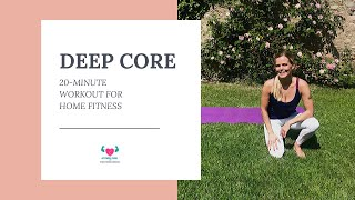 20 Minute Great Deep Core Workout with Cool Music for Home Fitness