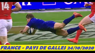 🏉Test Match Rugby 🇫🇷France Pays de Galles🏴󠁧󠁢󠁷󠁬󠁳󠁿 24/10/2020 Full Game Match entier
