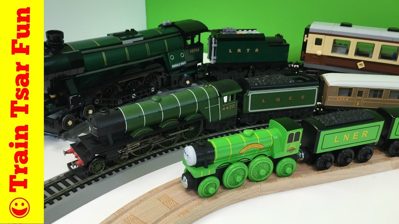 Flying Scotsman Thomas Friends Wooden Railway With Lego And Hornby Trains