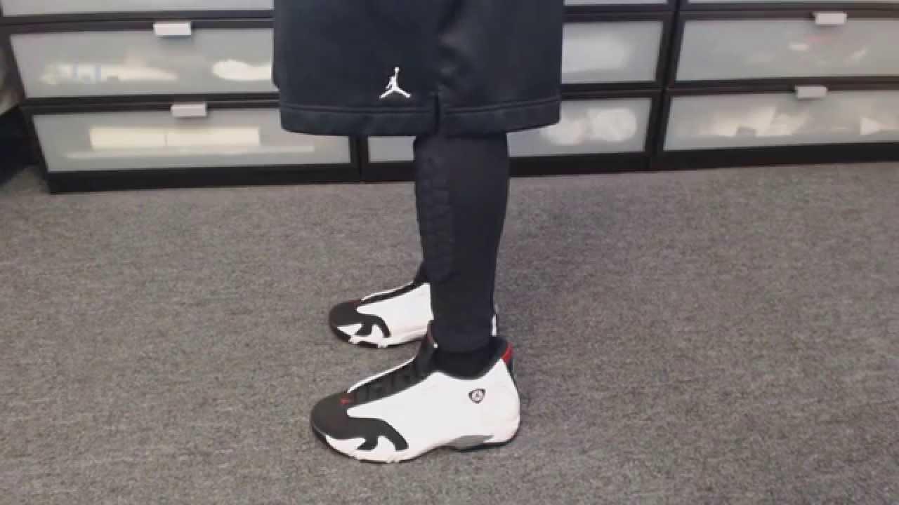 separation shoes 7ca6e 87c27 On Feet  Air Jordan XIV (14) Retro  Black Toe , September 20, 2014 Release  (1080p) - YouTube