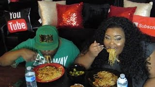 🍝MUKBANG   Spaghetti w/ Meatballs & Sausages   Couples Edition   Eating Show