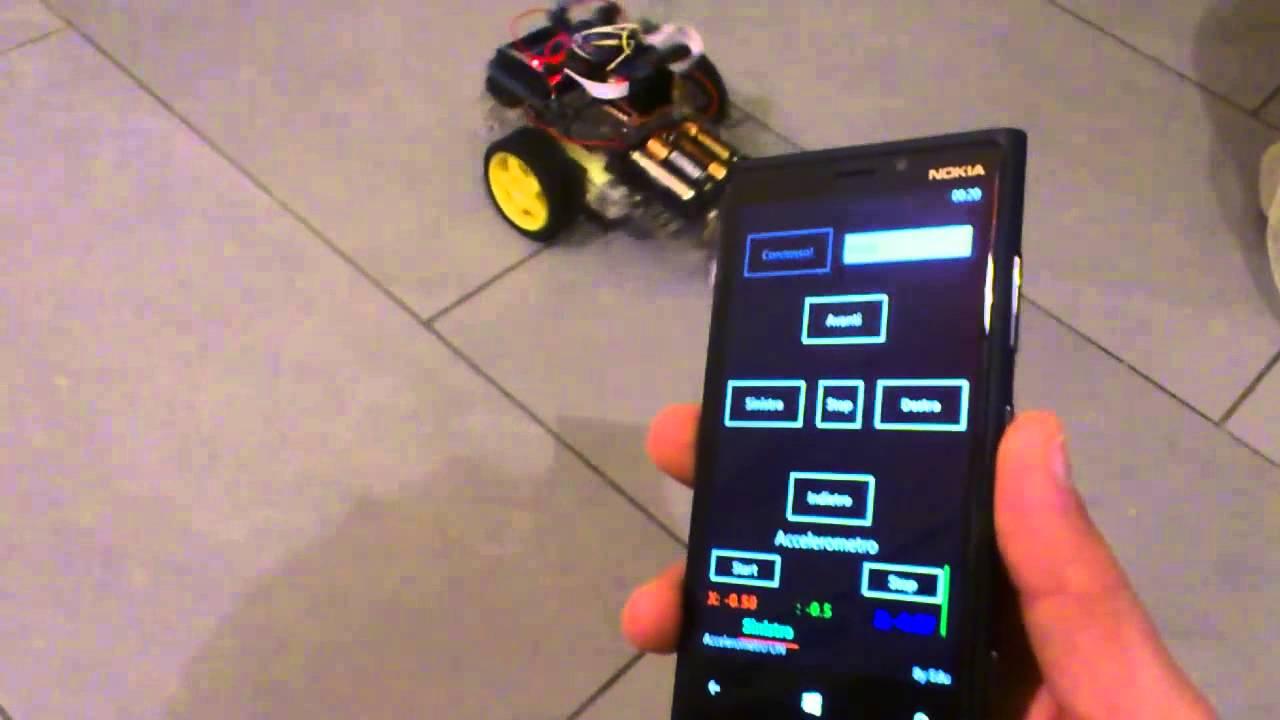 Arduino car robot with bluetooth windowsphone youtube