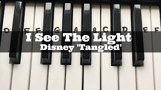 I See The Light - Mandy Moore ('Disney's Tangled') | Easy Keyboard Tutorial With Notes (Right Hand)