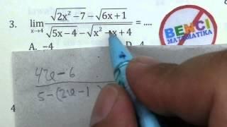 Cara Cepat Limit Akar-Bank Soal Matematika SMA No.3