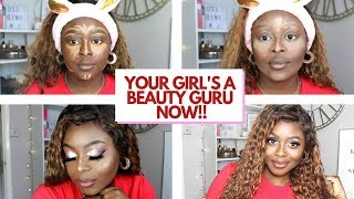 I'm a Beauty Guru Now Sis. Don't @ Mi. Nude and Natural Glam Makeup