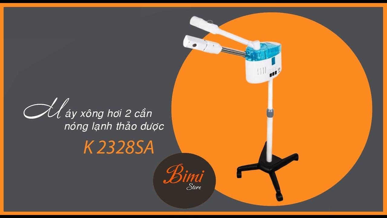 [Bimi Store] Cách sử dụng máy xông hơi spa giá tốt 2 cần nóng lạnh thảo dược K2328SA