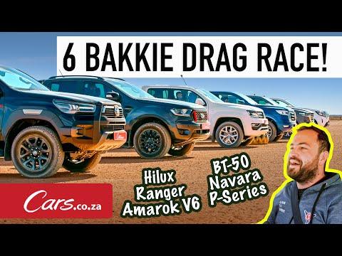 Six Bakkie Drag Race! Hilux vs Ranger vs Amarok vs P-Series vs BT-50 vs Navara (all 4x4)